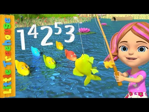 12345 Once I Caught a Fish A  Number Song for Kids  Nursery Rhymes  Little Treehouse