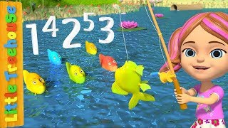 12345 Once I Caught A Fish Alive Number Song For Kids Nursery Rhymes By Little Treehouse
