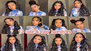 12 CUTE & EASY INSTA BADDIE HAIRSTYLES ♥