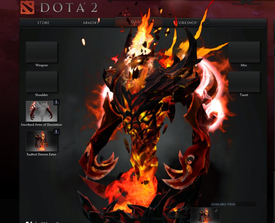 Dota 2 Arm Of Desolation Arcane Shadow Fiend YouTube