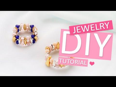 DIY Tutorial - Machen Sie Ringe mit Duo Beads Perlen - Machen Sie Ihren eigenen Schmuck