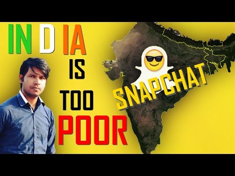 Snapchat NO More in India ? | India is too Poor Country