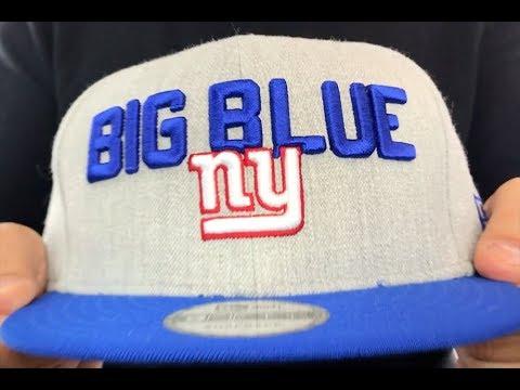 NY Giants  2018 ONSTAGE SNAPBACK  Grey-Royal Hat by New Era - YouTube 34a1df2ea9e