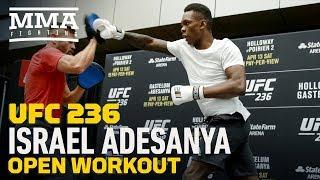 UFC 236: Israel Adesanya Open Workout Highlights - MMA Fighting