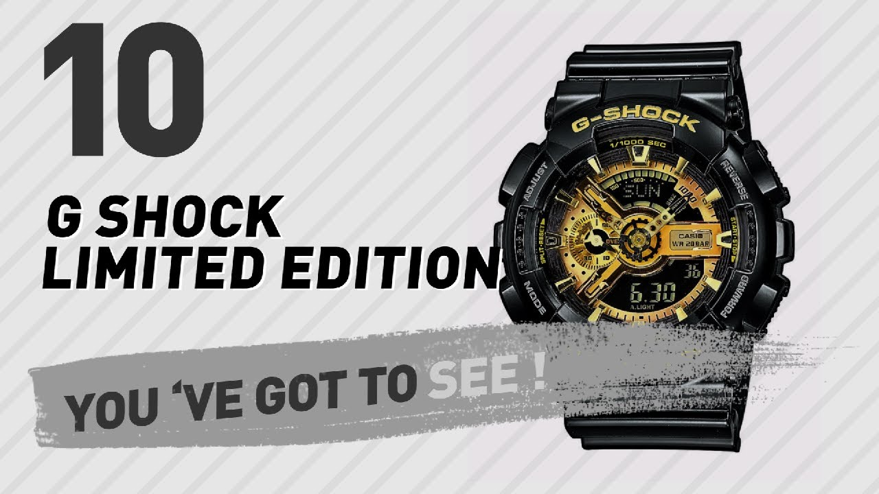 7b94c89b20a G Shock Limited Edition Top 10    New   Popular 2017 - YouTube