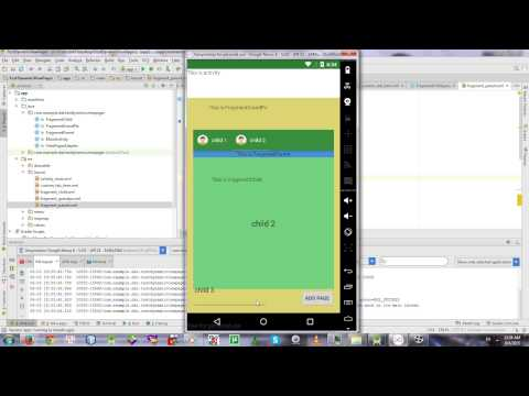 Dynamic Viewpager inside Nested Fragments - YouTube