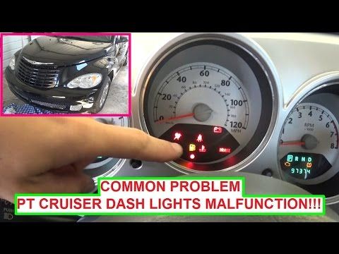 Chrysler PT Cruiser Dash Lights  Instrument Cluster Lights ON & OFF Blinking  COMMON PROBLEM!