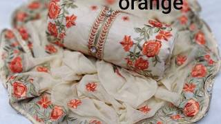 Chanderi Heavy Embroidery Materials New amp Fresh Collection 2019