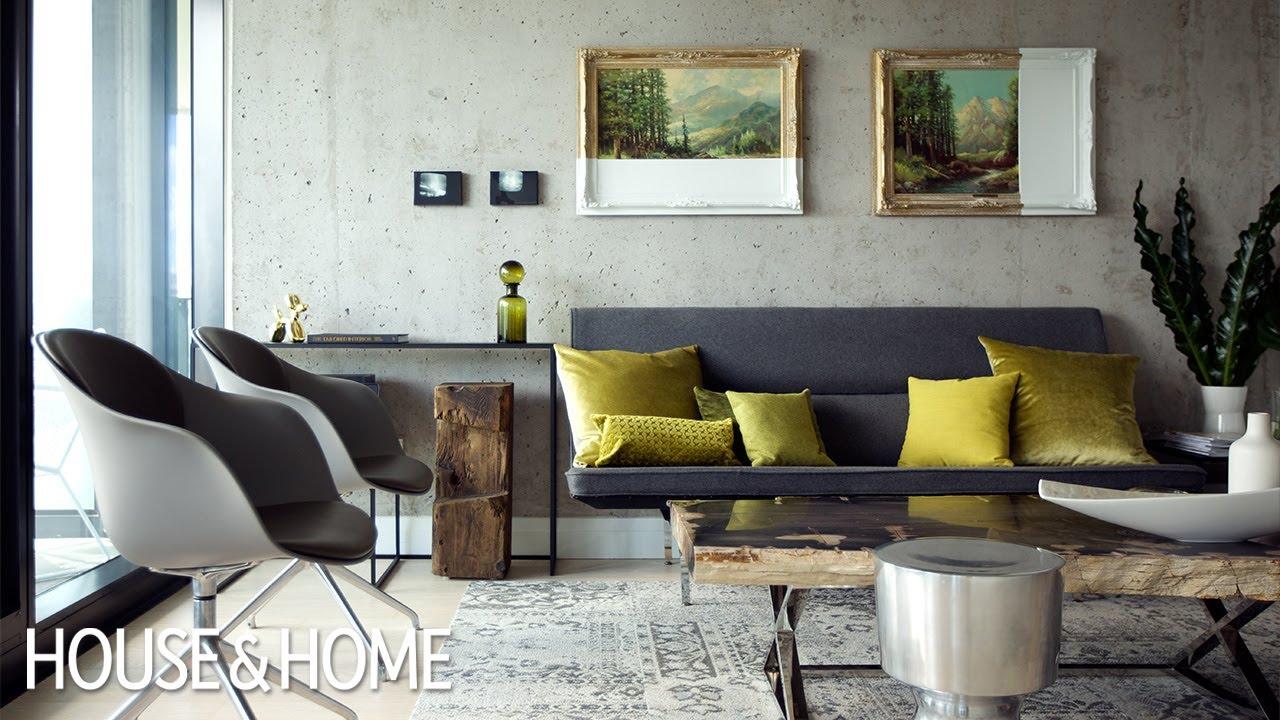 Condo Interior Design Ideas Living Room Rug A Small With Genius Storage Youtube