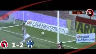 Monterrey vs tijuana 2015 4-3 todos los goles