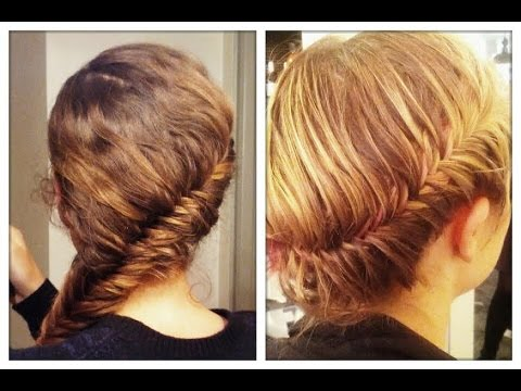 La tresse pi de bl coll e french fishtail braid youtube - Tresse epis de ble ...