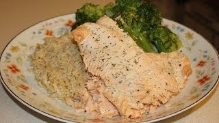 Healthy Dill-mayo Salmon Fillet