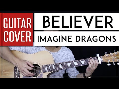 Believer Guitar Cover Acoustic - Imagine Dragons 🎸 |Tabs + Chords|