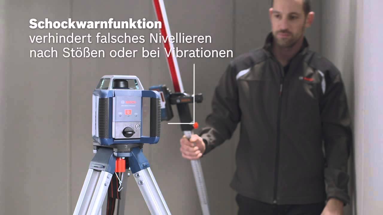 Makita Entfernungsmesser Opinie : Bosch rotationslaser grl 400 h professional youtube