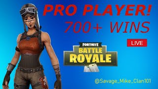 FORTNITE LIVE/NEW MOTH SKIN AND UPDATE /COME CHILL /700 PLUS WINS/Savage_Mike101