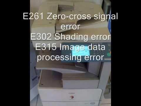 Canon error code list part I