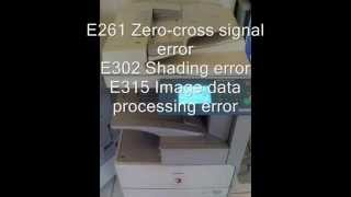 Canon error code list part I