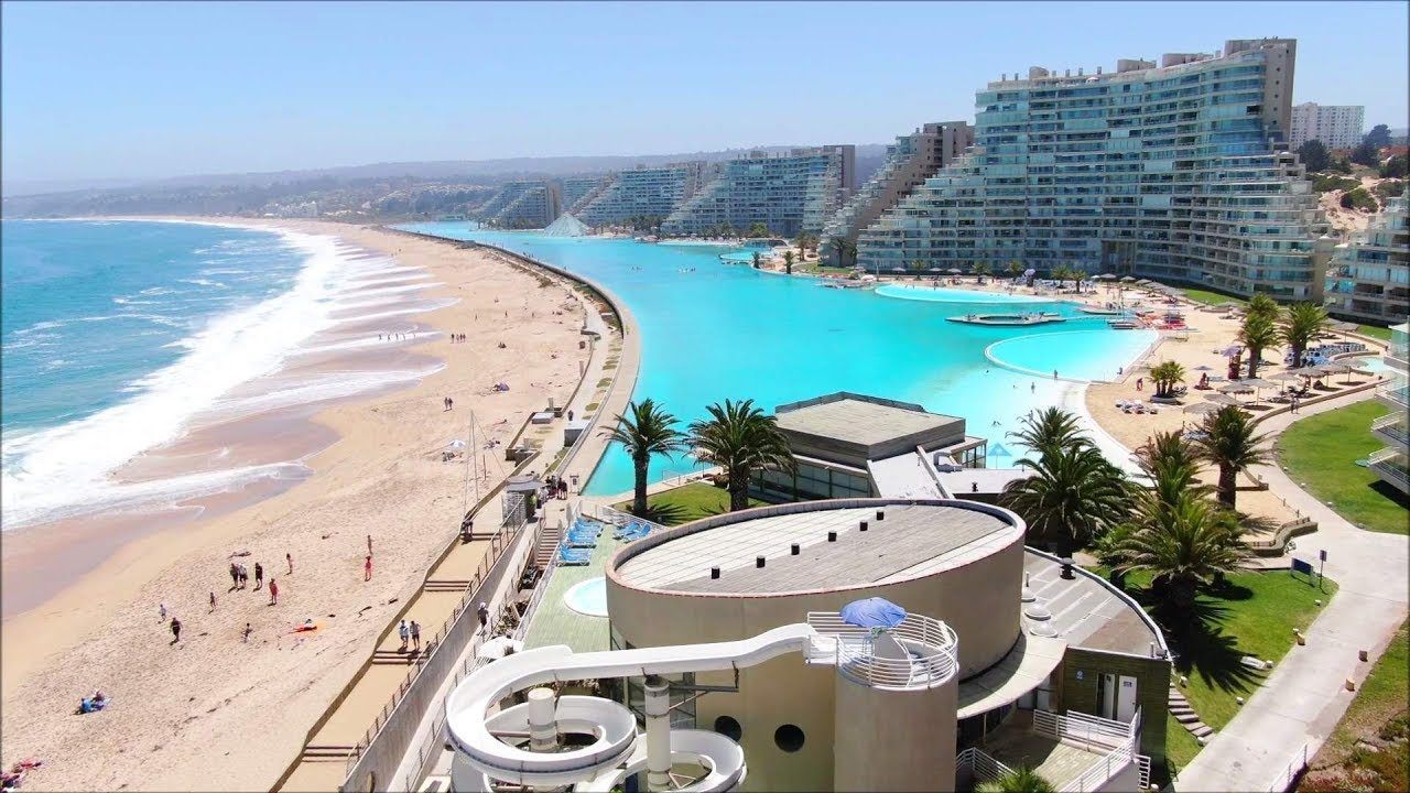 Worlds Largest Outdoor Pool At Chiles San Alfonso Del Mar Resort >> San Alfonso Del Mar At Algarrobo Chile Largest Swimming Pool Latin America
