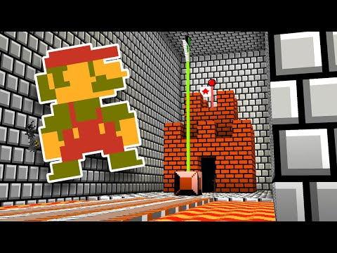Minecraft But It's Super Mario