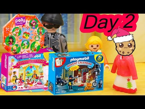 Polly Pocket, Playmobil Holiday Christmas Advent Calendar Day 2 Toy Surprise Opening