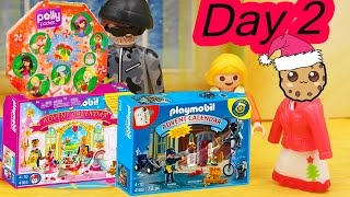 polly pocket playmobil holiday christmas advent calendar day 2 toy surprise opening