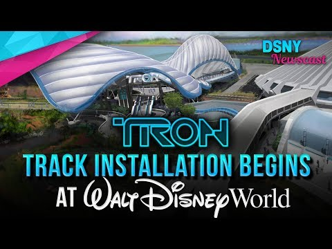 TRON Rollercoaster TRACK INSTALLATION BEGINS at Walt Disney World - Disney News - 5/17/19