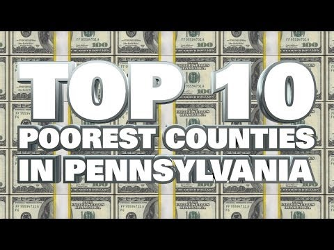 10 Poorest Counties in Pennsylvania 2014