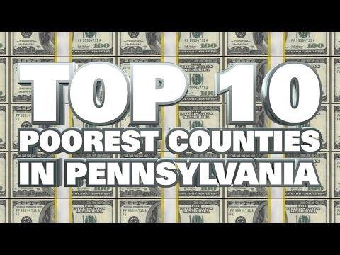 10 Poorest Counties in Pennsylvania 2014