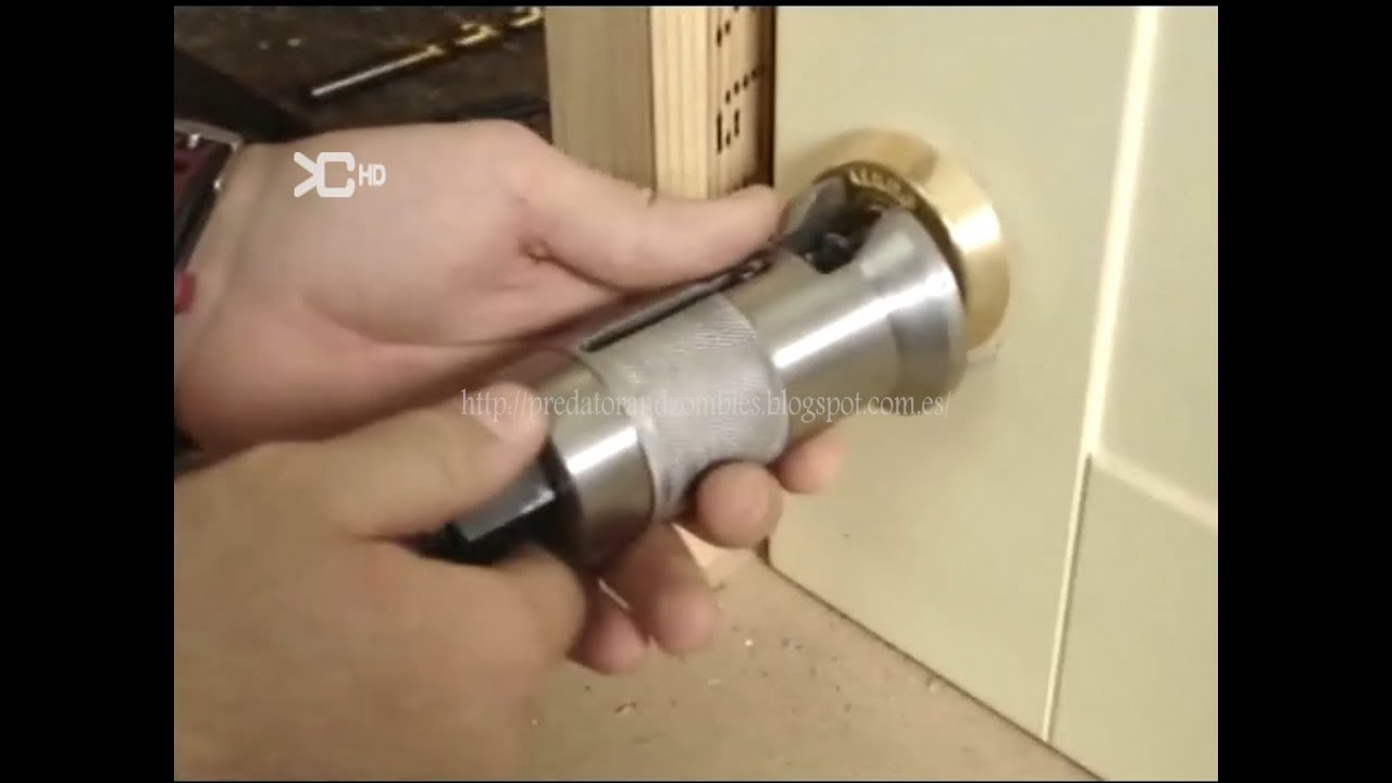 como sacar un bombin de una cerradura sin llave