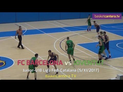 U18M - FC BARCELONA vs. JOVENTUT. Liga Catalana JUNIOR 2017 (BasketCantera.TV)
