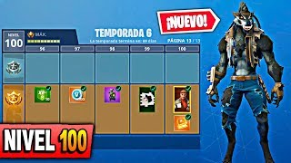 **SEASON 6** SKIN LEVEL 100 WITH ALL PURCHASED! at FORTNITE: Battle Royale BATTLE PASS