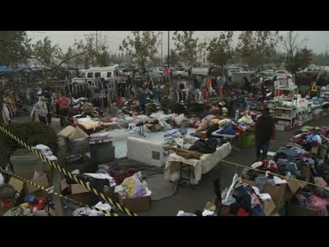 An Improvised Aid Bank Set Up For Fire Evacuees