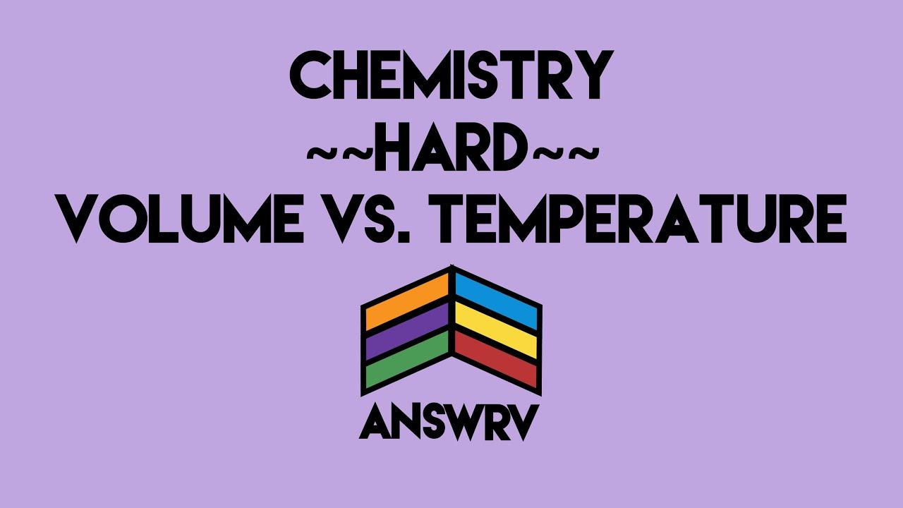 Chemistry Pvnrt Gas Graphs Answrv Youtube