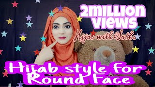 most requested  easy modern hijab style for round face without cap 2018 /islamic wear