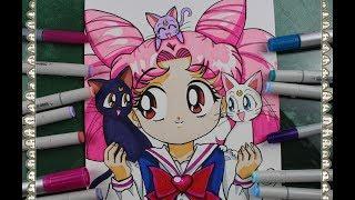Cómo Dibujar Chibi Moon How To Draw Sailor Chibi Moon Speed Draw Sailor Moon | CarlosNaranjoTV