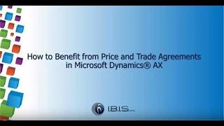 Wie Profitieren Sie von Preis-und Handelsabkommen in Dynamics AX
