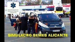 Simulacro atraco con rehenes | 29 Congreso SEMES Alicante 2017