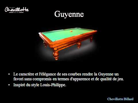 table de billard modles moderne chevillotte