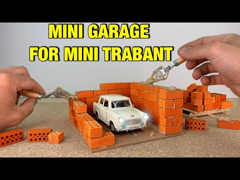 HOW TO BUILD A BRICK WALL: BRICKLAYING --- How to build a MINI GARAGE