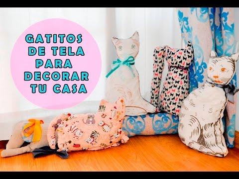 Hacer un gato de tela para decorar tu casa youtube - Telas con motivos infantiles ...