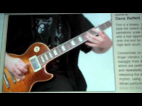 Dave Reffett Guitar World Lick of the Day