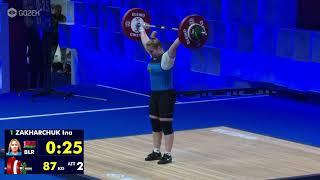 Инна Захарчук BLR Women 87kg Group B European Championships Moscow 2021