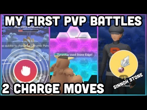 MY FIRST PVP BATTLES IN POKEMON GO | 2 CHARGE MOVES | PLAYER BATTLE TIPS & TRICKS thumbnail