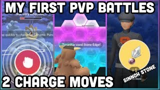 MY FIRST PVP BATTLES IN POKEMON GO | 2 CHARGE MOVES | PLAYER BATTLE TIPS & TRICKS