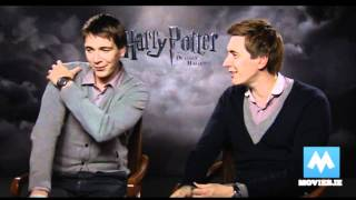 The Weasley Twins on the end of HARRY POTTER & THE DEATHLY HALLOWS