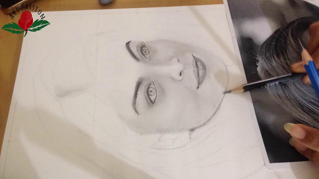 Aishwarya rai pencil drawing sketch portrait time lapse bestofux