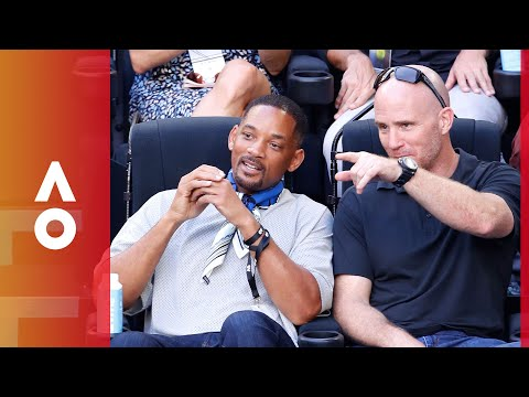 Will Smith in the house  Australian Open 2018