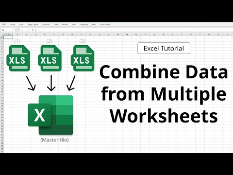 How to set up a table in excel  with multiple worksheets into one
