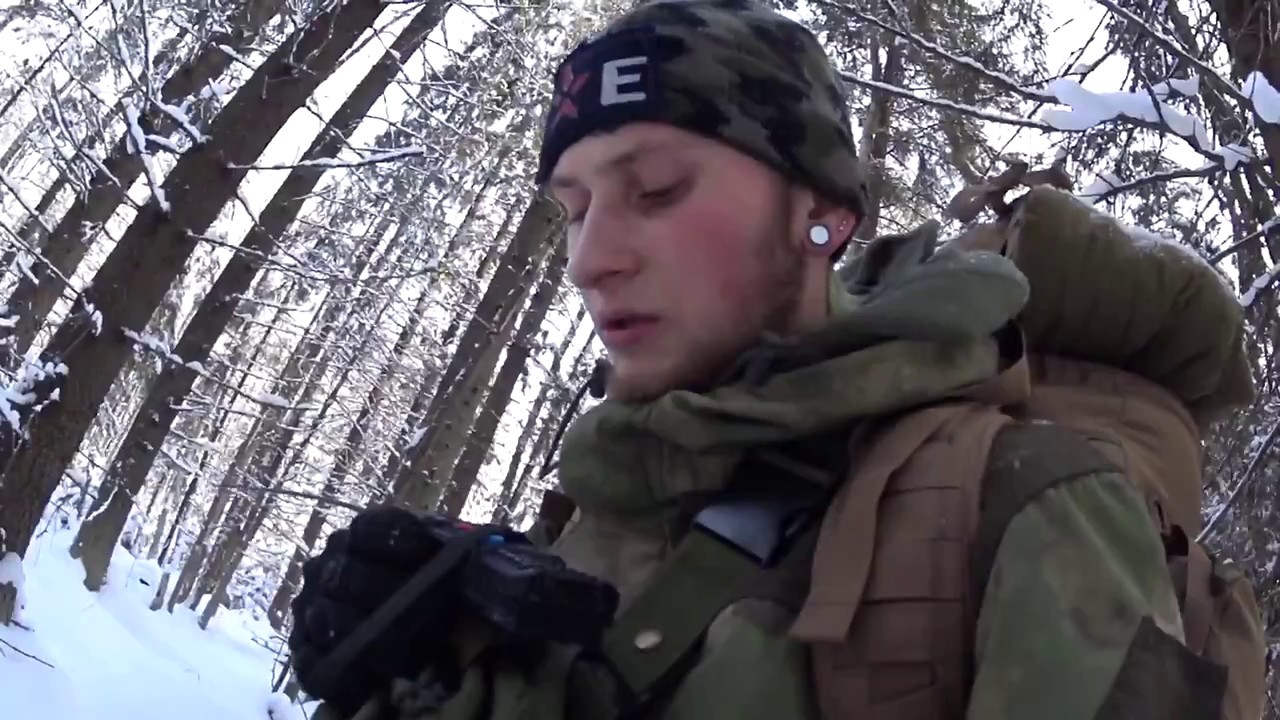 24 часа в зимнем лесу  I Нам помешали волки!
