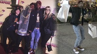 I WATCHED LEBRON JAMES RING CEREMONY CAVS VS KNICKS! W/ D&B NATION! RARE UNRELEASED SHOES! HEAT COP!